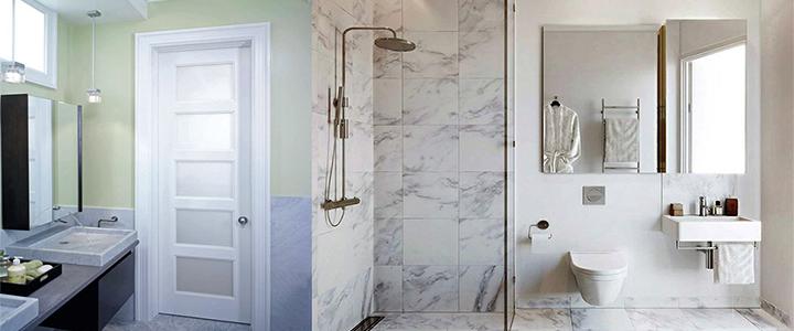 Какую дверь лучше выбрать для ванной комнаты