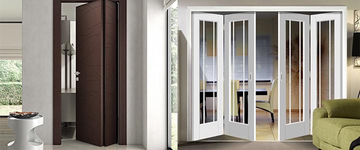 Складные двери – как их выбрать и как их установить?